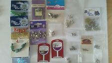 LOT JEWELRY Charms, Beads Butterflies, Angels, Turtles. Dragon Fly, Bees etc