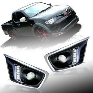 Fit 2009-2011 Mitsubishi Triton L200 Mn Led Daytime Running Fog Lamp Cover Ute