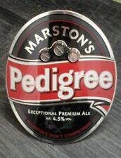 VINTAGE MARTSON'S PEDIGREE CASK ALE METAL PUMP CLIP SIGN COLLECTIBLE FREE P&P
