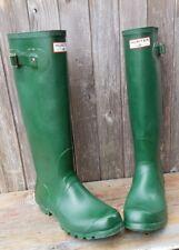 Hunter Original Tall Knee-High Rubber Rain Boots Green Gloss Women's Size Us 8