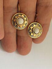 Michal Golan 24K Gold White Howlite Small Drop Earrings  Handmade