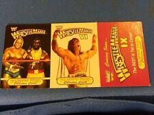 1993 Wrestle Mania 3 Card Panel Wrestle Mania 1 And 6