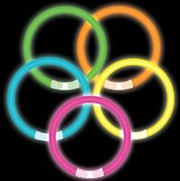 30 NEON GLOW GLO IN THE DARK STICKS BRACELETS HEN NIGHTS KIDS ADULTS PARTY BAGS