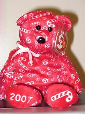 Ty Beanie Baby  ~ CANDY CANES the Red Bear ~ Hallmark Exclusive ~ MWMT'S