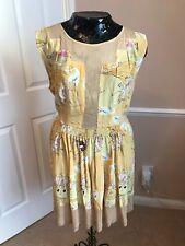 TBA (To Be Adored) Silk Ballerina Print Dress UK10
