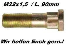 HW80 HW60 THK5 Hänger Anhänger M22x1,5 / Länge 90mm Radbolzen Bolzen Ersatzteile