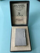 S.T. Dupont Silver & Gold Diamond Head Line 1 Lighter in Box
