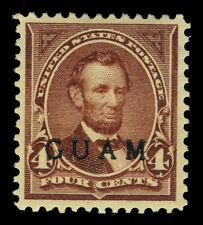 U.S. 1899 GUAM - Lincoln  4c lilac brown  Scott # 4 mint MLH VF-XF stamp
