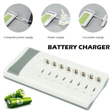 8 Slot Smart Battery Charger For AA AAA Ni-MH / Ni-Cd Rechargeable Batteries