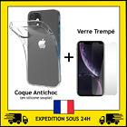 PROTECTION VERRE TREMPE + COQUE ANTICHOC IPHONE 5/6/7/8/X/XR/XS MAX/11 12 PRO/SE <br/> 🚚🚚 LIVRAISON GRATUITE // EXPEDITION SOUS 24H ! 🚚🚚