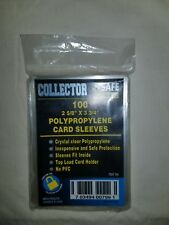 100ct NEW Collector Safe Cards Sleeves for baseball football mtg FREE SHIPPING!
