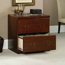 Locking Legal Size File Cabinet Cherry Wood Furniture Home Office 2 Drawer S
