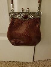 Moulin Rouge Womens Boutique Art Deco, Leather Croc, Shoulder Handbag Purse