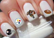 Pittsburgh Steelers Nail Art Stickers Transfers Decals Set of 46