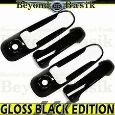 2002-2008 DODGE RAM 2dr 1500 2500 GLOSS BLACK Door Handle COVERS 2 Keyholes