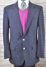 Burberrys 41L Vtg Goldtone Metal Buttons Blue Blazer Sport Coat Jacket IMPERFECT