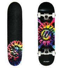 "SKATEBOARD, WONDERFUL BOARD CO,   COMPLETE SKATEBOARD  TIE DYE 8.0"" x 32"",  SKAT"