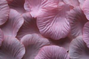 1000 x LIGHT PINK SILK ROSE PETALS WEDDING CONFETTI TABLE DECORATION UK SELLER