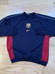 Nike FC Barcelona Vintage Sweater Training Top Sz L BNwOT Rare Soccer Messi