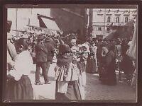 Roma Marché A Rottame Italia Foto Amateur Vintage Citrato 1898
