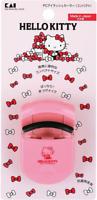 New Kai Sanrio Hello Kitty Pink Makeup Eyelash Curler rubber pad Compact Japan
