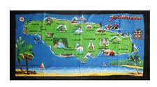 "Beach Blanket Towel Island of Jamaica 30""x60"" 100 Cotton"