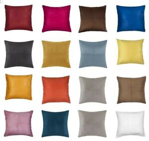 40*40 Suede Cushion Cover(Pack of 4 pcs) / Classic French Double Stitching Style