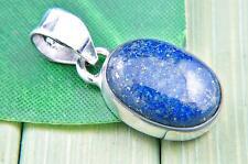 Kettenanhänger Medaillon Silber 925 Sterlingsilber Lapis Lazuli blau Stein