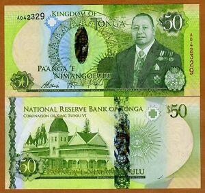 Tonga, 50 Pa'anga, ND (2015), P-48, Hybrid Polymer, UNC > New King