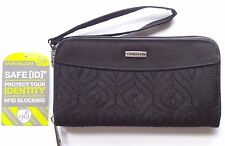 Travelon RFID Blocking Wallet/Wristlet in Black w/Floral Print Lining (50% OFF!)