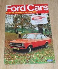 FORD Brochure 1976 ESCORT SPORT Granada Ghia Coupé V6 Cortina Mk3 Gt 2000E Capri