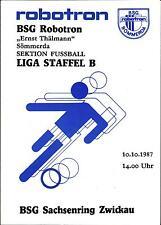 DDR-Liga 87/88 ZEPA Robotron Sömmerda-BSG Sajonia anillo Zwickau, 10.10.1987