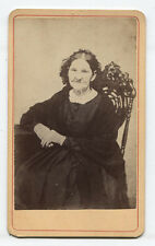 CDV OLD WRINKLY WOMAN LOOKING STRAIGHT AT YOU. BALDWINSVILLE, N.Y.