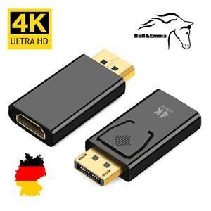 ✅ Displayport zu HDMI Adapter DP 1920×1080 4K HD Audioübertragung Goldkontakte ✅