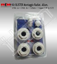 "Kit Univers. BLISTER RM per Radiatori Alluminio 1""x 3/8"" MADE IN ITALY"