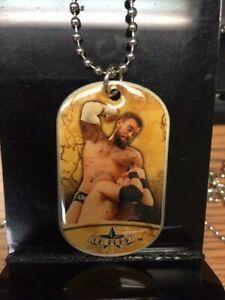 CM PUNK 2011 Dog Tag Necklace WWE WWF Pro Wrestling 1 OF 24
