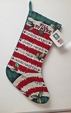 Fill to here a Christmas stocking by Manual Woodworkers & Weavers made in USA in