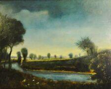 Franz Frahm-Hessler (1898-1990) pinturas: Holstein-paisaje con río u Angler