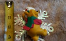 RARE Disney Snowflake Winnie the Pooh and Tigger Christmas Ornament Figure