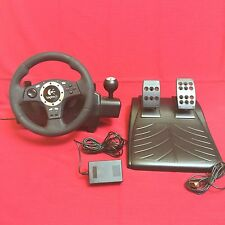 Logitech Driving Force Pro Racing Steering Wheel Set Playstation 2 3 PS2 PS3 PC