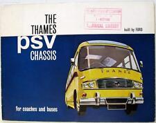 Ford thames PSV Châssis Bus Original commercial brochure 1962-63 T7335/962