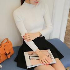 Women Knitted Pullover sweater elastic Solid Turtleneck sweater Slim Sexy women