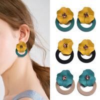 Boho Women Jewelry Vintage Flower Statement Ear Stud Dangle Drop Earring Charm