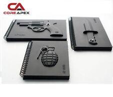 Armed Notebooks - Grenade, Gun, Knife, Drawing Journal Diary Memo Pad, Cool