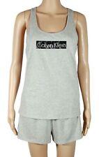 Calvin Klein Sleepwear Shorts Tank Top Logo Gray Pajama Set NWT Medium $59