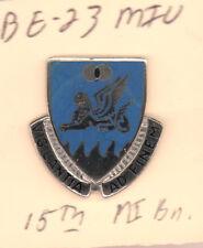 15th MI Bn Military Intelligance ROTC  DI DUI E-23 MIU