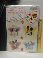Dog decals Sheets Decorative/reusable girls room 8+,Wings, Multi /DC6508