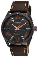 Citizen Eco Drive CTO Men's BM6995-19E Orange Accents Black Dial 42mm Watch