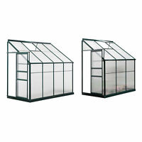 Outsunny Walk-In Garden Aluminum Polycarbonate Greenhouse with Airy Roof Vent