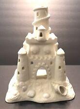 Partylite Sand Castle Teahouse Tea Candle Holder Sea Shell Beach Castle 9� H